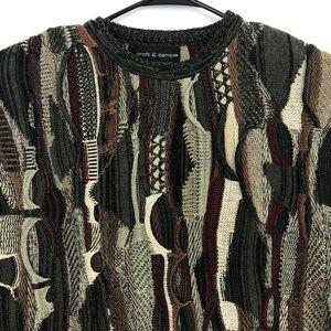 Croft & Barrow Mens Small Coogi Style Knit Sweater